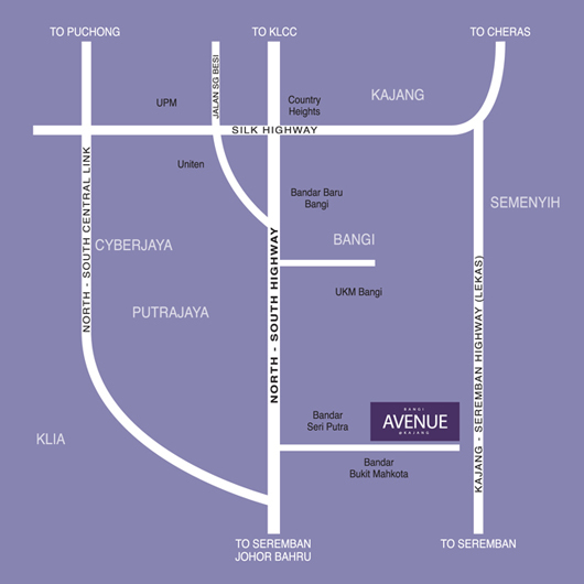 Location Map Bangi Avenue House
